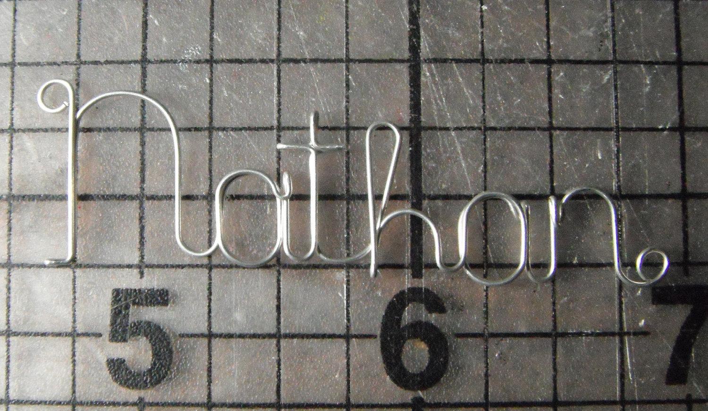 Nathan's reusable wire name tag